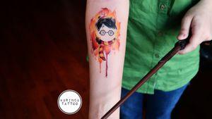 Harry Potter ⚡🔮 All of them are my works @tattoodo @karincatattoo #harrypottertattoo #harrypotter #HarryPotterTattoos #ink #tattooed #girl #woman #tattedup #inked #tattoo #tattoos #istanbul #turkey #dövme #dövmeci #design #watercolor #spell #wizard #wand #color #arm #tattooart #PotterHead