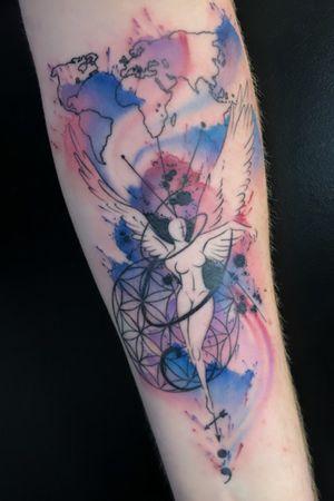 #watercolor #geometric #customtattoo