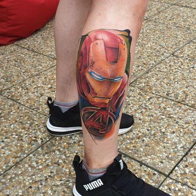 IRONMAN! #tattoo #tattooart #tattooed #marvel #ironman #realism #colourtattoo