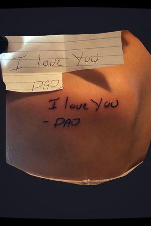 Dad handwritting