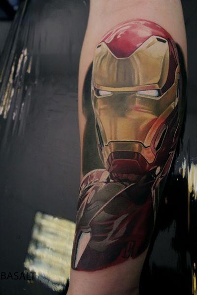 #basalttattoo #ironman #ironmantattoo #colourtattoo #realismtattoo #realism #marvel #MarvelTattoo