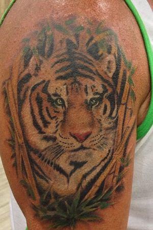 Tiger tattoo #tigertattoo #tattoos #tattoo #ink #inked #inkjecta #intenztattoo