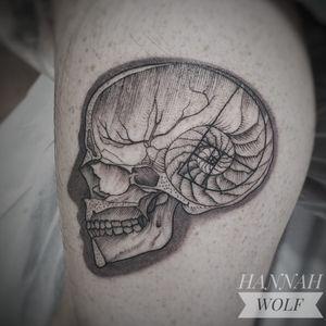 Sacred Geometric Skull tattoo by Hannah Wolf #HannahWolf