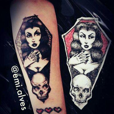 #vampyra #vampira #vampire #sketch #blackwork #goth