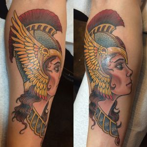 #valkyrie #traditionalgirlhead #ladyheadtattoo #warrior #grlpwr #strongwoman #norsemythology #ladywarrior #armor #wings #illustrative