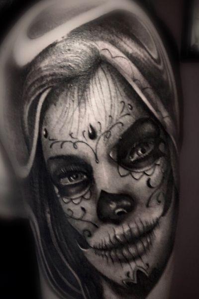 #diadelosmuertos #dayofthedead #mexican #catrina #blackandgrey #bishoprotary #bishopbrigade #tattoodo #tattoo #realistictattoo #ink #inked #inkedup #blackandgreytattoo #sandiego #sandiegotattoo #portrait #realism #bng #art #tattooer #tattoocollector #chicano #love #tattooing #smooth #guestspot #guestartist #diegoperugini