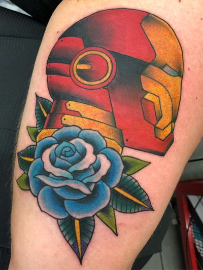 #ironman for Bobby. #rose #traditional #neotraditional #color