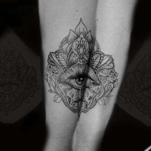 Instagram: @rusty_hst Fineline piece #linework #allseeingeye #fineline #lineart #wristtattoo #tattoosforwomen