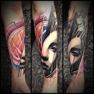 #abstracttattoo #tattooartist #abstract #tattooart #trash #surealism