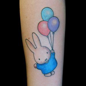 #bunnytattoo #cartoontattoo #colortattoo