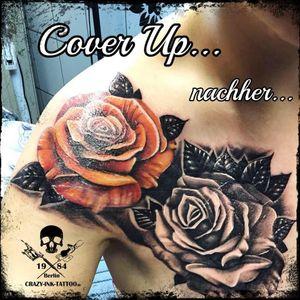 ein #coverup Das zweite Bild zeigt etwas wie es war, schönen Sonntag noch... . Morgen sind wir wieder ab 12 Uhr für Euch da...⠀⠀⠀⠀⠀ . für kurzentschlossene am 19.6 ist gerade ein Termin frei geworden... . 📷@crazy.ink.tattoo.berlin . Infos wie immer 017627112764 auch WhatsApp...⠀⠀ . https://crazy-ink-tattoo.de . https://facebook.com/crazy.ink.tattoo.berlin . https://instagram.com/crazy.ink.tattoo.berlin . . . . #tattoo #tattoos #berlin #tattooberlin #tattoomoabit #tattooshopberlin #crazyink #crazyinkberlin #crazyinktattoo #crazyinktattooberlin #tattoist #berlintattooer #bodyart #berlintattooartist #berlintattooartists #tattooart #tattooideas #tattooideasforgirls #blackngrey #colortattoo #blackandgreytattoos #rosestattoo #rosetattoo #rosetattoos #flowertattoos #girlwithtattoo #blackandgreytattoo #inkedberlin #superbtattoos