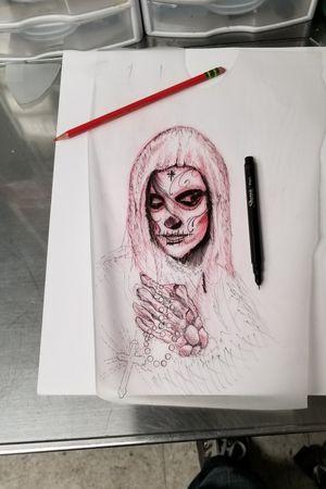 Sketch my wif the inspiration as always #austintattoos #austintx #texastattoos #theatomictattoo #texas #Art #portrait #AustinTattooer #pencil #pen