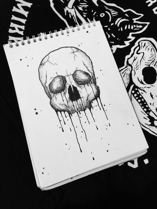 Blxck Skull #blackwork #blxckink #sketchbook #tattooink #skulltattoo