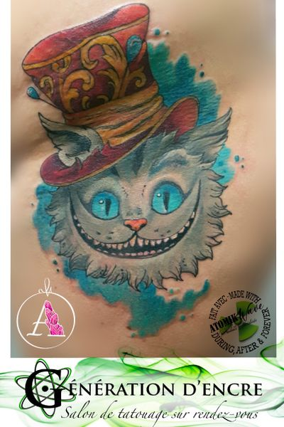 #aliceinwonderland #chester #cat #disney #watercolor #atomikwave #duringafter&forever