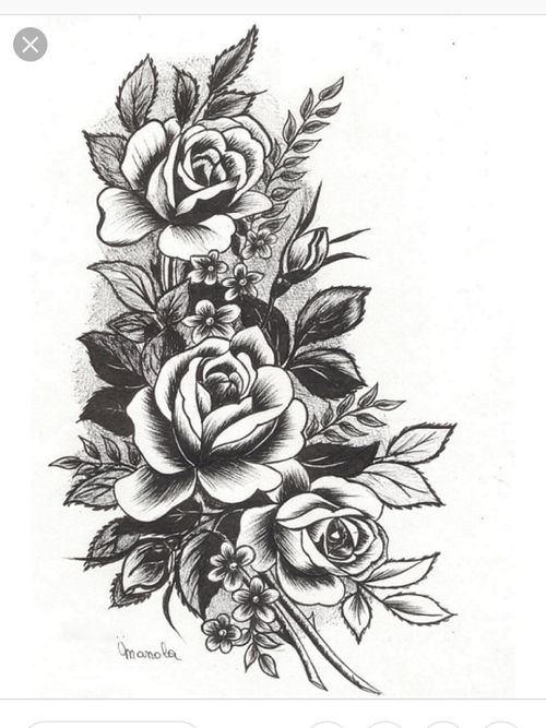 I'm obsessed with this kind of flowery design. I definitly want it to be the base of my half sleeve.