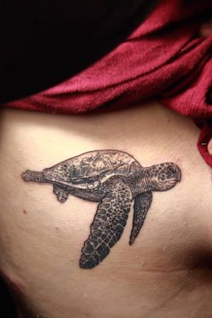 #seaturtle #dotwork #tattoo by tattoo artist Veer Hegde at Eternal Expression Bangalore