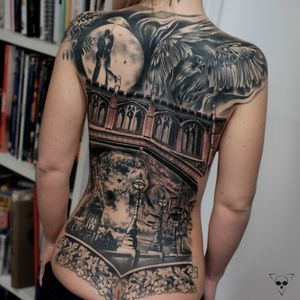 Cover up on the right half of the back. Thanks Jasmin for your trust ! #frankfurt #coverup #ffm #backpiece