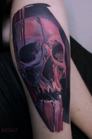 #basalttattoo #skull #skulltattoo #realism #realistic #realistictattoo #colour #colourtattoo #kiev #ukraine #ukrainetattoo