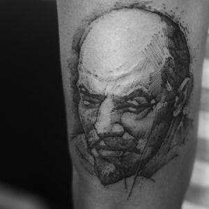 There are no morals in politics; there is only expedience. A scoundrel may be of use to us just because he is a scoundrel. _____ Vladimir Lenin . #tattoo #vladimirlenin #lenin #bolsheviks  #communism #communist  #russia #longliverevolution #trashrealism #darktrashrealism #darktrash #trashy #sketchbook #sketch_daily #sketchs #tattoodo #tattoosofinstagram #tattooartists #tattooideas #tattooedmen #tattoolovers #tattooshop #tattooworld  #kwadroncartridges #cheyennehawk #nocturnalink #blackworktattoo #blacktattoo #blacklist