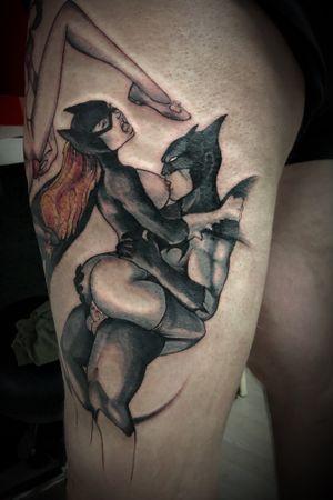 #tattoodo #batman #tattooporn #porn #sexy #art #cartoon #catwoman #ink #inprogress