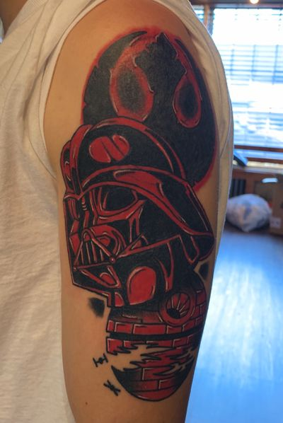 Star wars cover up #starwars #coverup #darthvader #nyc #nyctattoo #queens