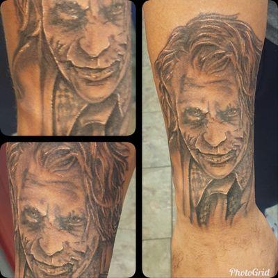 #blackandgray #joker #ink #arm #realistic #realistictattoo #batman #SuicideSquad
