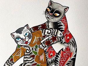 Cat tattoo flash by Iris Lys #IrisLys #Cattooer #cattattoos #cat #kitty #animal #petportrait #bff