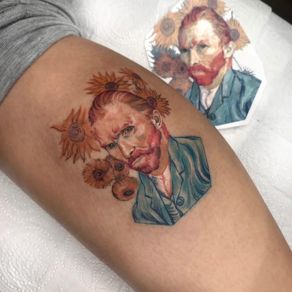Van gogh tattoo by Ali Dundar #AliDundar