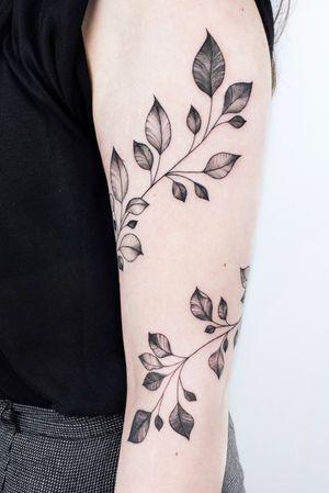 #crushonline #branch #naturetattoo #finelinetattoo #tattoogirls #blackgrey