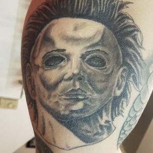 #MikeMyers #blackandgrey #realistictattoo #horrortattoo #Vancouverisland #victoriabc #18+ #yyj #tattooartist