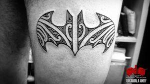 #freehand #Batman logo #samoan fill.