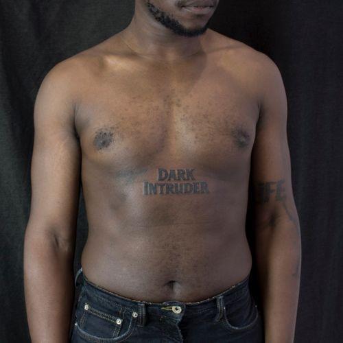 DARK INTRUDER/ Done @nuitblanchetattoo, Paris. Thanks Earvin for your trust ! #tattoo #lettering #horrormovie #movietitles #dark #darkintruder #blackwork #blackworker #darktattoo #paristattoo #tattooparis #paris #tattooing #tatouage #typographie #typography #typographytattoo