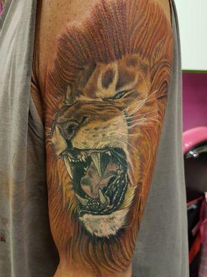 #coverup #realisticlion #lion #Vancouverisland #victoriabc #tattoo #tattooartist #18+ #yyj