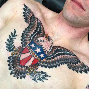 A classic never goes out of style. #sailorjerry #traditional #eagle #patriot #soldier