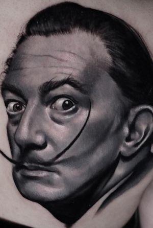 #b&g #portrait #tatuaje #bcntattoo #riga #latvia #barcelona #blackandgrey #dali