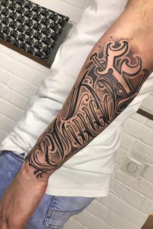 Freehand #letteringtattoo #lettering #tattoomoscow #scripttattoo #fineline #LetteringArtists #thebesttattooartists