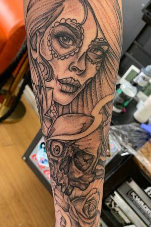 Chicano half sleeve