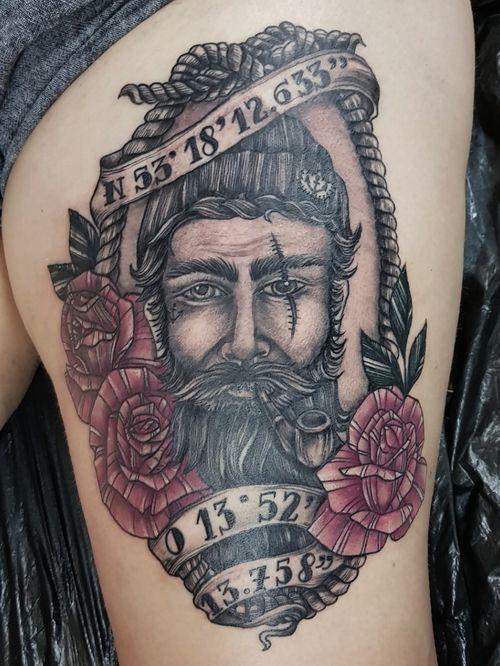 #sailor #sailortattoo  #tattoo #tattooartist #blackwork #lineworktattoo #blackandgrey  #tätowierung #tattooinberlin #berlin #berlintattooartist  #deutschland