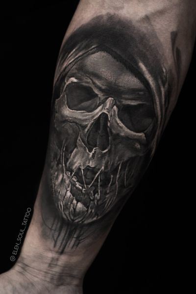 #skull #death #slevee #horror #dark #blackandgray #elensoul