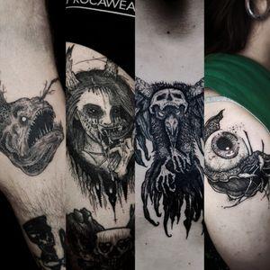 #tattoist #Black #blackworktattoo #blackwork #BlackworkTattoos #darkartists #DarkArt #dark #Goth #Gothic
