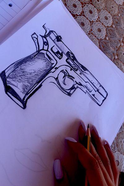 #tattooartist #blackworktattoo #myart #pistol #mywork