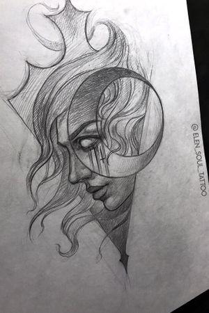 #moongirl #moon #darkart #exclusive #elensoul