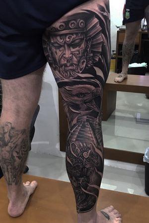 Leg sleeve #tattoos #tattoo #eagletattoo #bnginksoceity #ink #inked