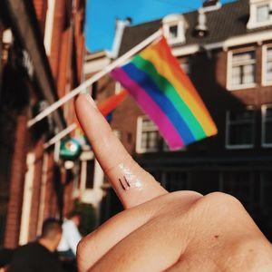Equal tattoo by Wise Kid Tattoo #WiseKidTattoo #rainbowtattoo #queertattoo #LGBTQIA #LGBT #queer #gay #pride #pridemonth #tattooidea #meaningfultattoo