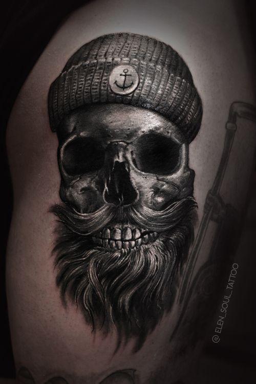 #skull #skulltattoo #dark #blackandgray #elensoul
