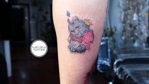 Dumbo 🐘 Instagram: @karincatattoo #dumbo #tattoo #tattoos #tattoodesign #tattooartist #tattooer #tattoostudio #tattoolove #ink #tattooed #watercolor #watercolortattoo #dövme #dövmeci #istanbul #turkey #kadıköy #elephant #disney #disneytattoos