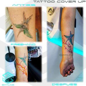 """[TATTOO REMAKE] """"Colibri y rama sobre colibri"""" Estilo Acuarelado Full color. Diseño pa Freehand personalizado. Una Sesión Artista: FB/INSTA: @jaime.sxe #SkylineStudio #TattooRemake #CreateYourself"""