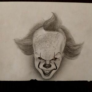 Pennywise (It) 🤡 #tete #tattooartist #sketch #sketchtattoo #boceto #bocetos #tattoo #tattoos #dontcopy #artist #personaldesign #realism #realismo #Pennywise