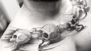 Skulls . . . . Appointments/Citas: anibalbookings@gmail.com . . . . . #darkartists #sketch #tatuadoresbogotanos #blackworkershero #inkstinctsubmission #blackworkerssubmission #tattooinkspiration #tattoo #arts #TATTOOTODO #anibal_tattoo #tattooartist #blxink #stabmegod #cdmx #bogota