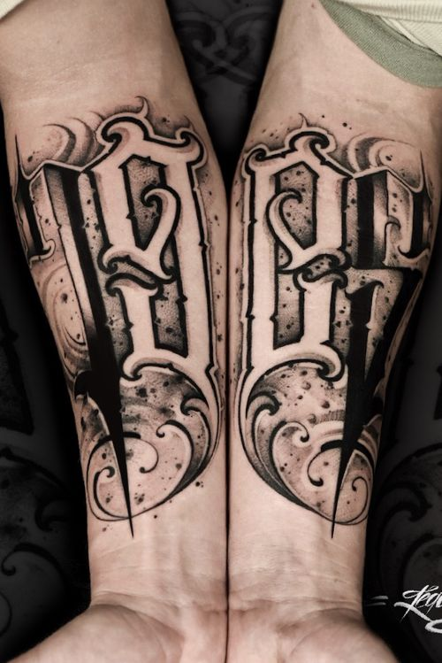 #letteringtattoo #chicanostyle #dirtyletters #freehand #tattoomoscow #lettering #thebesttattooartists